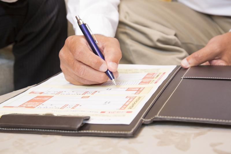 申込書・契約書への記入