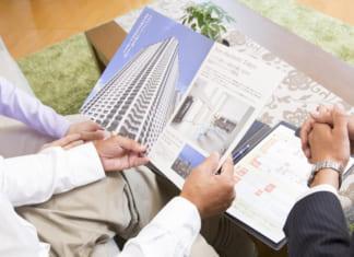 マンションのパンフレットと申込書